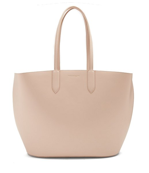ALEXANDER MCQUEEN East West leather tote in nude - Alexander McQueen's East West tote is a typically...