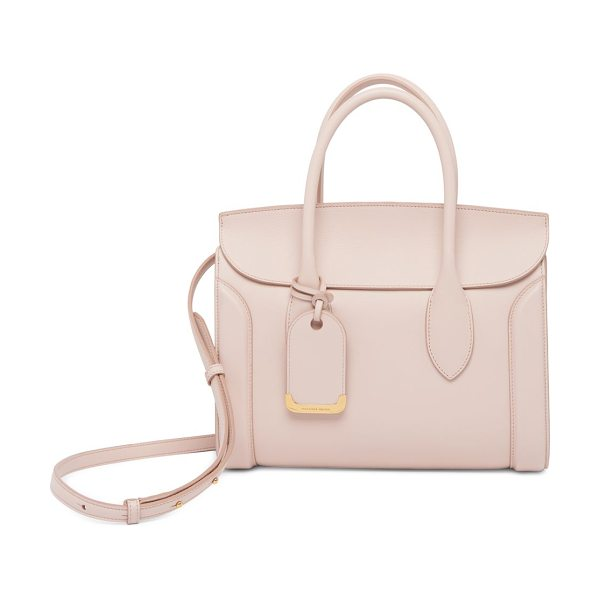 Alexander McQueen heroine leather shopper 30 in nude - Leather shopper bag designed with alluring hardware...