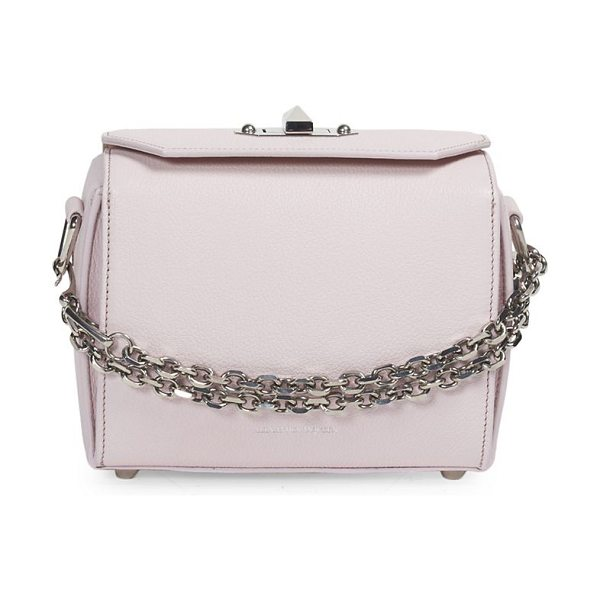 Alexander McQueen leather box bag 19 in baby pink