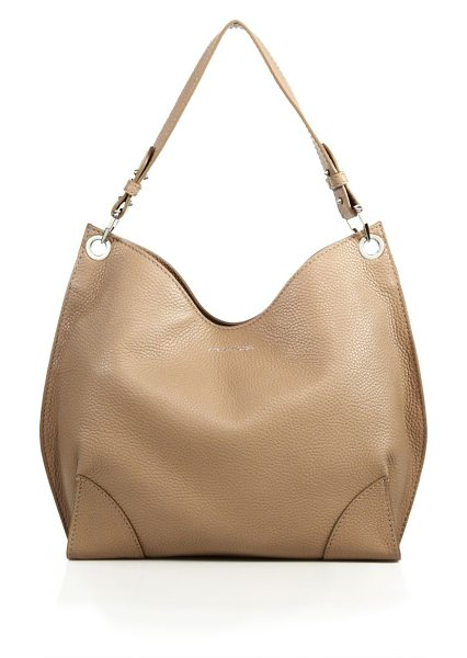 Alexander McQueen Legend small leather hobo bag in beige - Slouchy hobo silhouette rendered in rich pebbled...