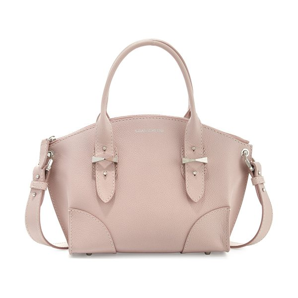 Alexander McQueen Legend small tote bag in patchouli - Alexander McQueen grained calfskin tote bag. Rolled top...