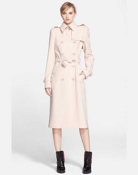 Alexander McQueen lightweight trench coat in light beige