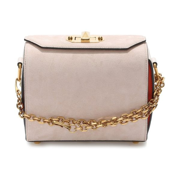 Alexander McQueen medium calfskin suede box bag in pink mix - Your new go-to handbag-this calfskin leather style gets...