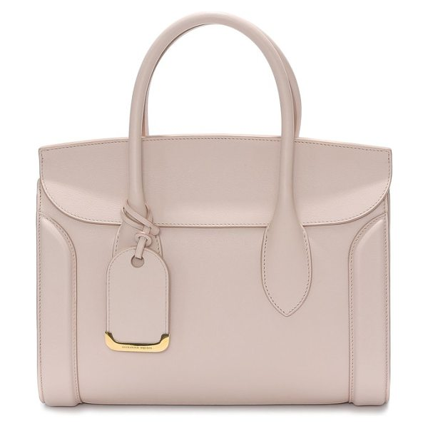 Alexander McQueen medium heroine calfskin leather shopper in pink - A signature bag from Alexander McQueen gets a fresh...