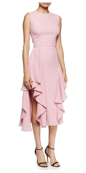 "Alexander McQueen Sleeveless Flounce-Hem Dress in pink - Alexander McQueen woven dress. Approx. length: 42.5""L..."
