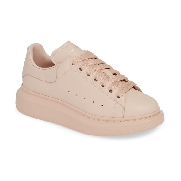 Alexander McQueen sneaker in pink - A tall rubber platform lofts a lace-up sneaker from...
