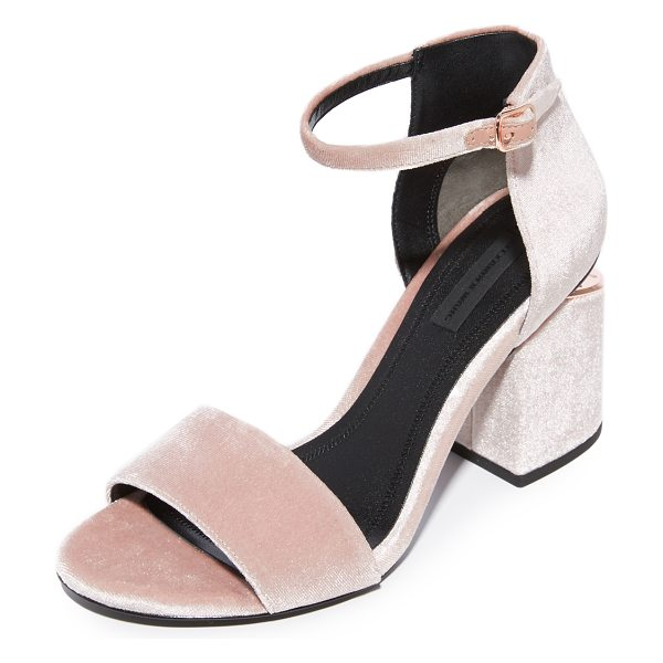 Alexander Wang abby ankle strap sandals in blush