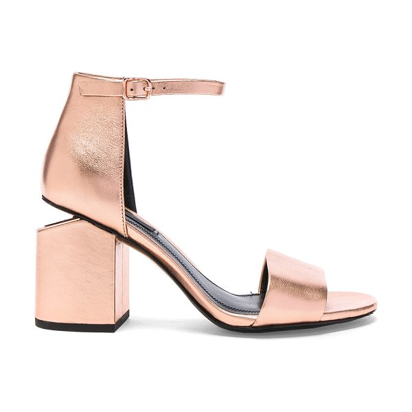 Alexander Wang Abby Metallic Leather Sandals in metallics,pink - Leather upper with leather sole.  Made in China.  Approx...