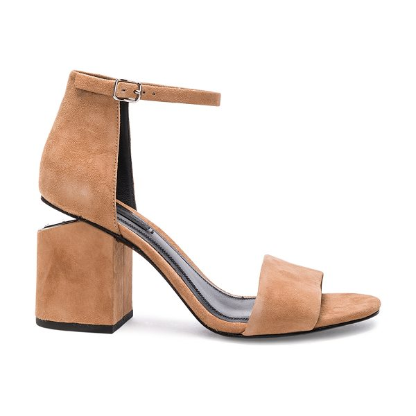 Alexander Wang Abby Suede Heels in neutrals - Suede upper with leather sole.  Made in China.  Approx...
