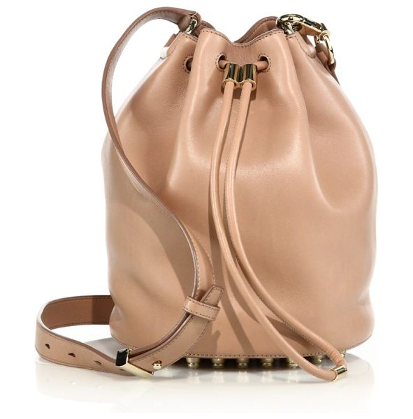 Alexander Wang Alpha leather bucket bag in blush