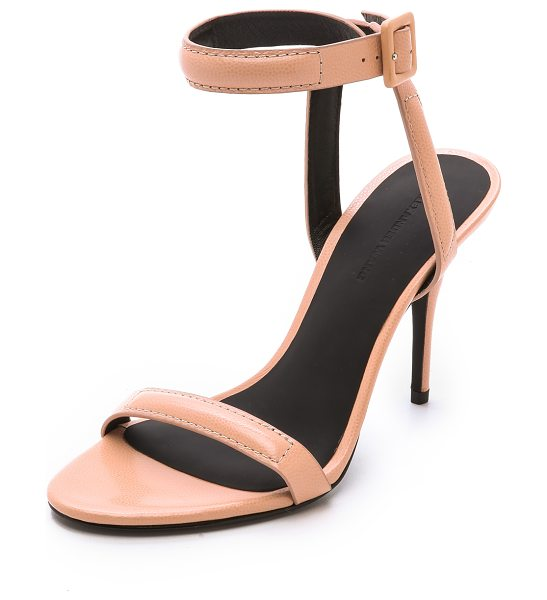 Alexander Wang Antonia ankle strap sandals in sandstorm - Finely pebbled leather composes these slim Alexander...