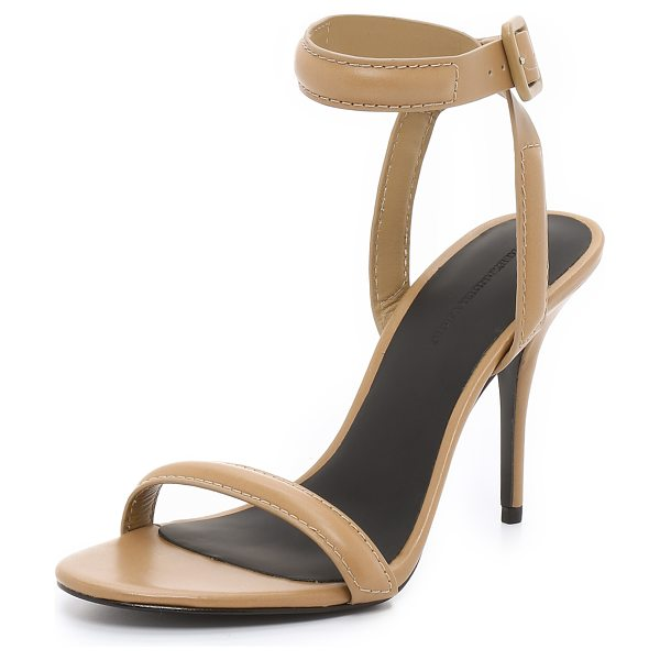 Alexander Wang Antonia sandals in sand - Sleek leather and slim, padded straps give modern...