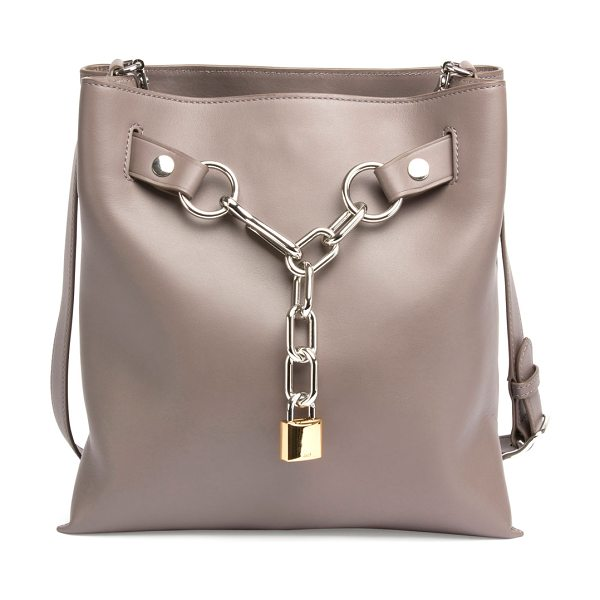 ALEXANDER WANG Attica Chain Crossbody Bag - Alexander Wang smooth calfskin crossbody bag. Silvertone...