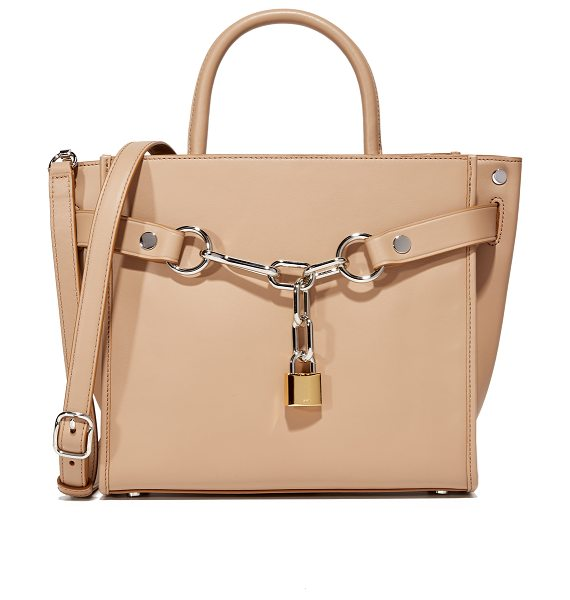 Alexander Wang Attica Chain Satchel in light nude - Sleek leather composes this structured Alexander Wang...