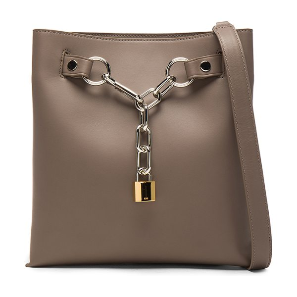 Alexander Wang Attica Chain Shoulder Bag in gray - Leather with fabric lining and silver-tone hardware. ...