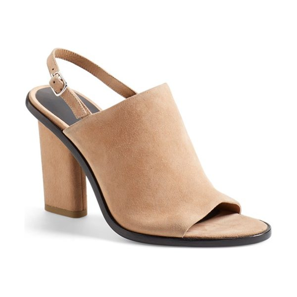 Alexander Wang cole slingback bootie in sandstorm suede - A slim slingback strap updates the classic profile of an...