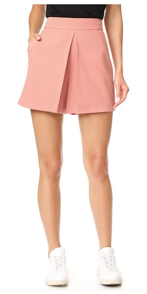 Alexander Wang cropped shorts with fold front detail in petal - These high-waisted Alexander Wang shorts have a graceful...