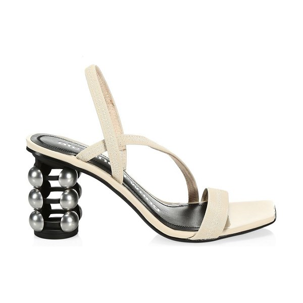 Alexander Wang deedee cage-heel patent leather slingback sandals in oyster