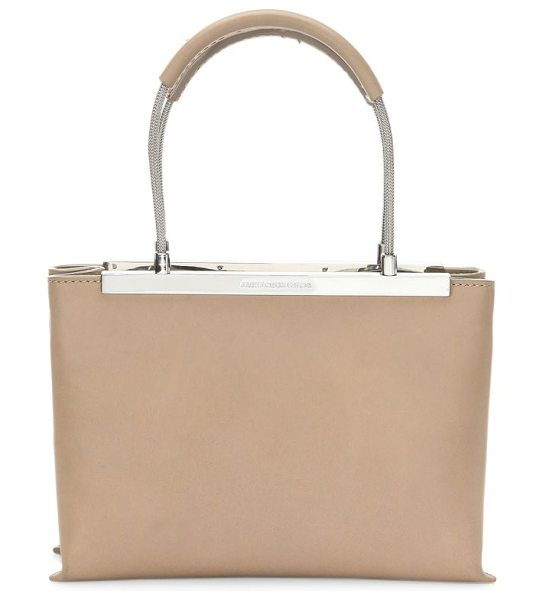 Alexander Wang dime leather satchel in nude - Classic leather satchel with ample space for daily...