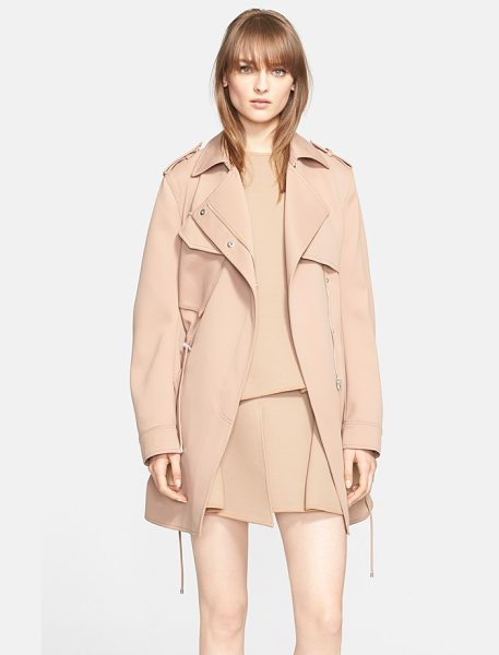 Alexander Wang drawstring parka in quicksand - A drawstring-cinched parka cut from technical fabric for...