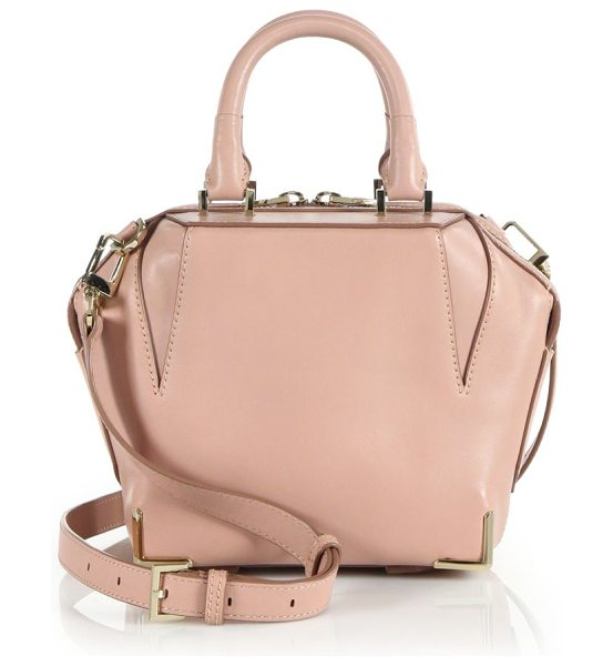 ALEXANDER WANG Emile mini leather satchel - Smooth, sleek leather in an elegant, angled shape that's...