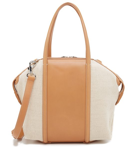 Alexander Wang Emile tote in dark natural - A sturdy, sculpted Alexander Wang handbag with textured...