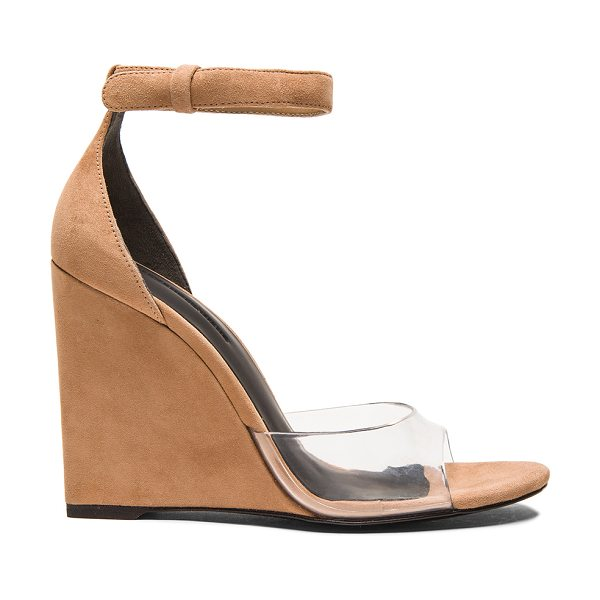 Alexander Wang Erika suede wedge sandals in neutrals - Suede upper with leather sole.  Made in China.  Approx...