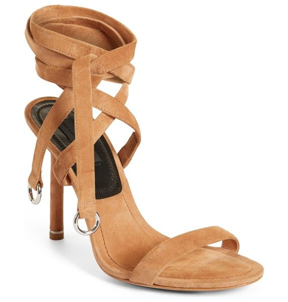 Alexander Wang evie ankle tie sandal in clay