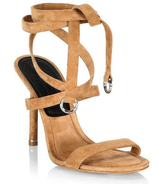 Alexander Wang evie suede sandals in clay - Suede sandals ideal for a fun and sophisticated style....