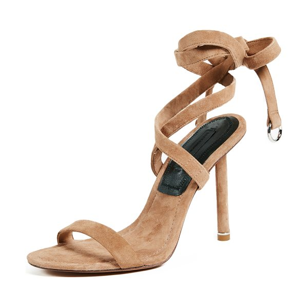 ALEXANDER WANG evie wrap sandals - Leather: Kidskin Wraparound straps Pumps Stiletto heel Tie...