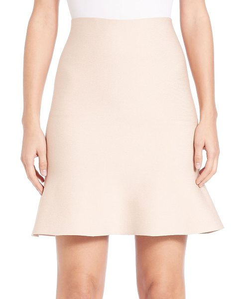 Alexander Wang flute-hem skirt in blush - Wardrobe staple shaped by flirty fluted hem. Self waist....