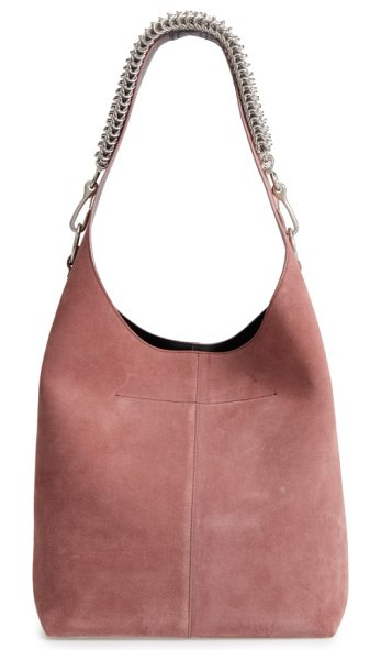 Alexander Wang genesis box chain suede hobo in mauve - Dramatically oversized and lightly structured, this...