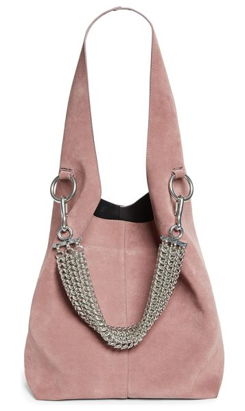 ALEXANDER WANG genesis box chain suede hobo - Dramatically oversized and lightly structured, this...