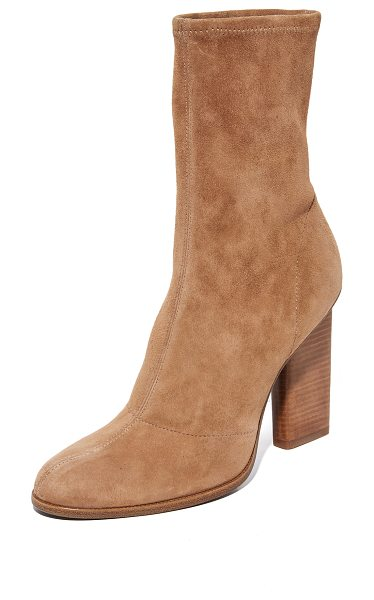 Alexander Wang Alexander Wang Gia Boots in clay - Luxe stretch suede Alexander Wang booties detailed with...