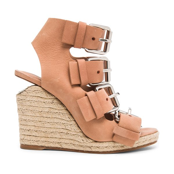 Alexander Wang Jo leather wedges in neutrals,pink - Leather upper and sole.  Made in China.  Approx 10mm/...