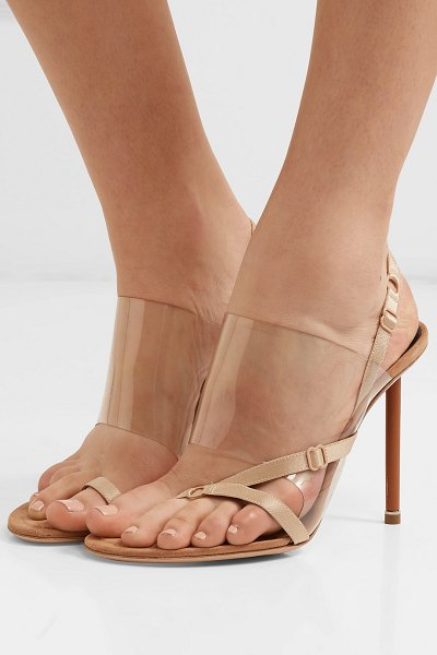 Alexander Wang kaia pvc and suede slingback sandals in neutral