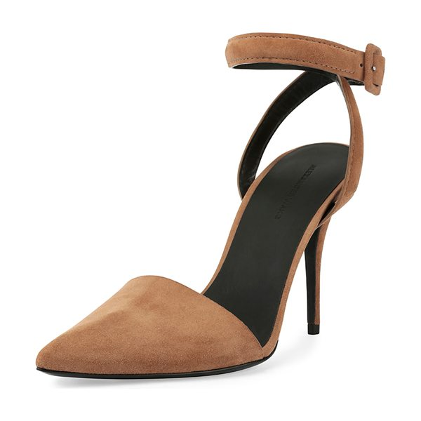 "Alexander Wang Lovisa suede dorsay pump in truffle - Alexander Wang suede pump. 4"" covered heel. Pointed toe...."