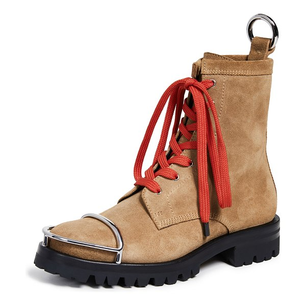 Alexander Wang lyndon boots in clay - Leather: Calfskin Suede Silver-tone hardware Hiking...