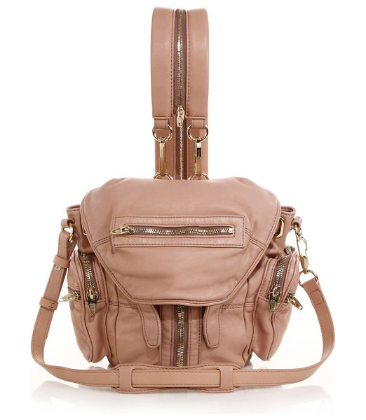 ALEXANDER WANG Marti mini convertible leather backpack in blush - Buttery lambskin is fashioned in a pared-down size that...