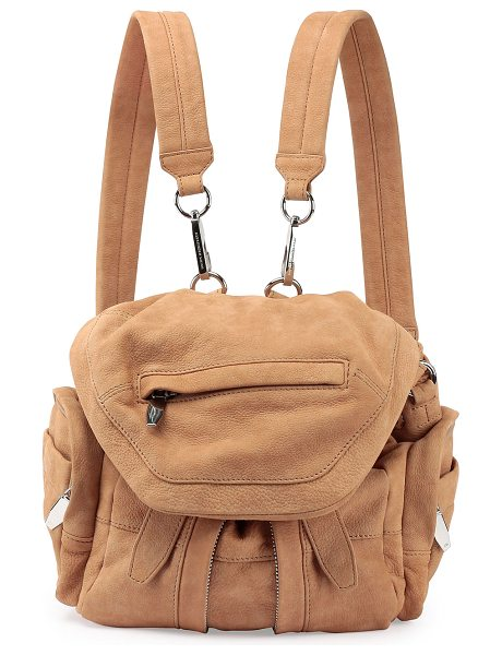 Alexander Wang Marti Mini Nubuck Backpack in nude