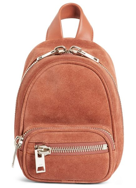 Alexander Wang mini attica suede backpack-shaped crossbody bag in terracotta