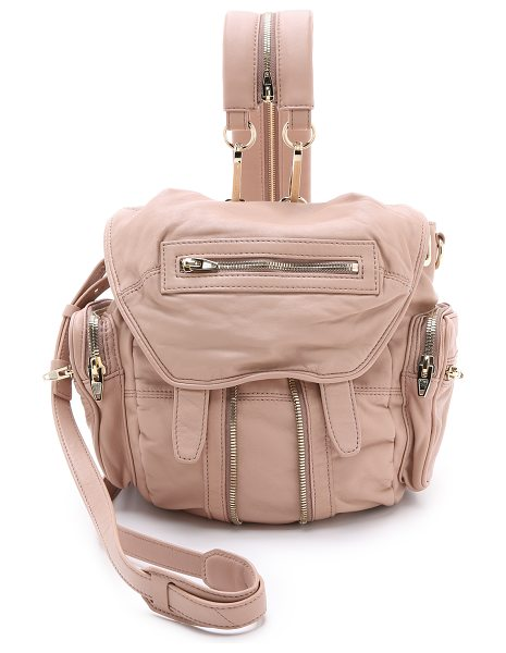 Alexander Wang Mini marti backpack in blush - Soft leather lends a luxe feel to this slouchy Alexander...