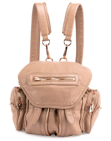 Alexander Wang Mini Marti Leather Backpack in latte