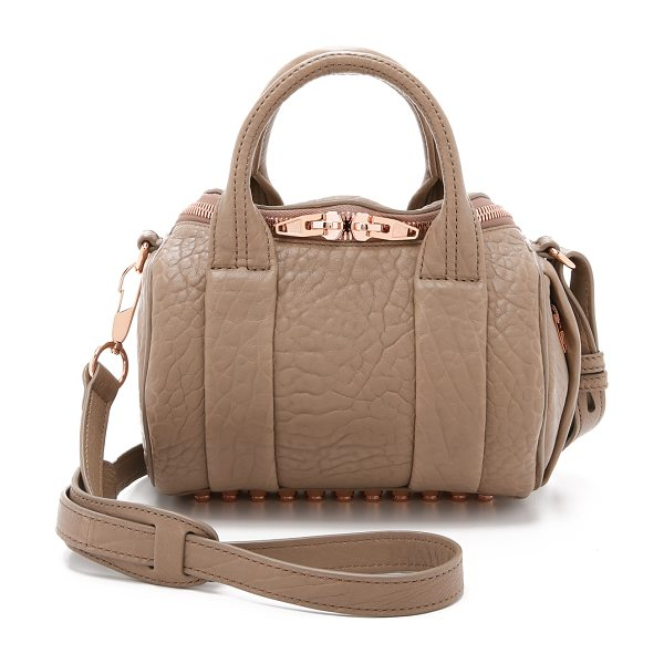 ALEXANDER WANG mini rockie bag - Textured leather composes this scaled-down Alexander...