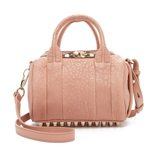Alexander Wang Mini rockie cross body bag in blush - Pebbled leather composes this scaled down Alexander Wang...