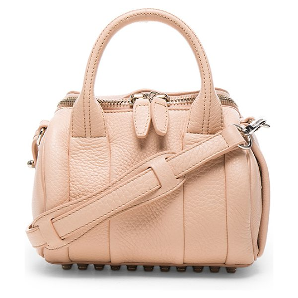 Alexander Wang Mini Rockie Pebbled Bag in pale pink - Pebbled leather with fabric lining and silver-tone...
