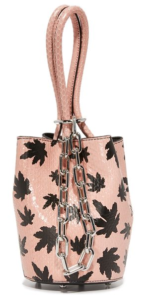 ALEXANDER WANG Alexander Wang Mini Roxy Bucket Bag - Patterned, snakeskin composes this scaled down Alexander...