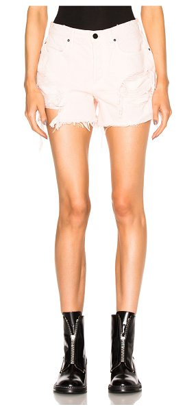 Alexander Wang Oversized Shorts in pink - Self: 100% cotton - Lining: 65% cotton 35% poly.  Made...