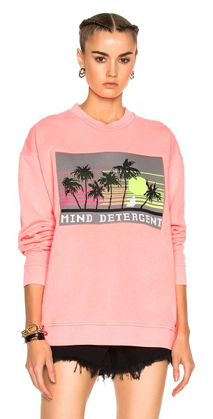 Alexander Wang Oversized Sweatshirt with Knit Patch in pink - Self & Rib: 100% cotton - Contrast Fabric: 100% poly. ...