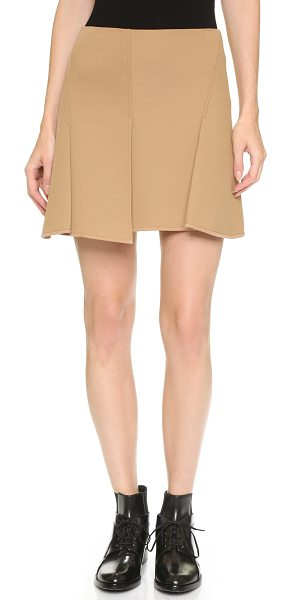 Alexander Wang Paneled miniskirt in quicksand - Soft honeycomb neoprene gives this pleated Alexander...